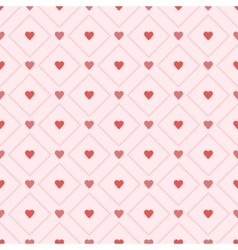 Seamless retro pattern hearts eps 10 vector image