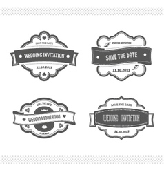 Set of wedding invitation vector image