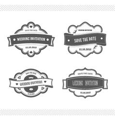 set wedding invitation vector image