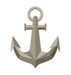 ship anchor nautical symbol icon vector image
