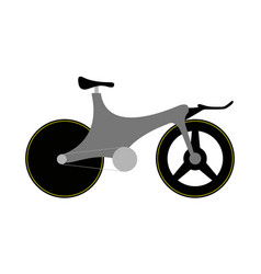side view of a racing bicycle vector image