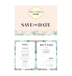 Simple pink background with flower wedding vector