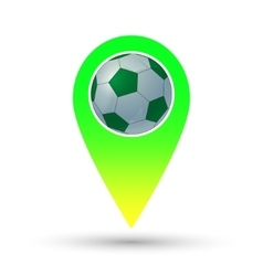 Soccer ball marker vector image