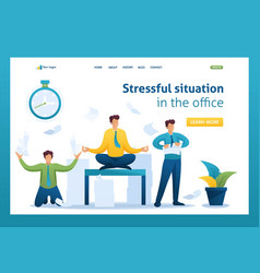 stressful situation staff running around vector image