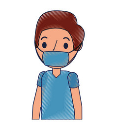 Surgeon man avatar character icon vector