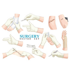 surgery set vector image