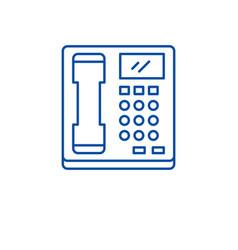 telephone line icon concept telephone flat vector image