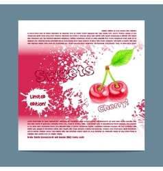 Template candy packaging Cherry sweets vector image