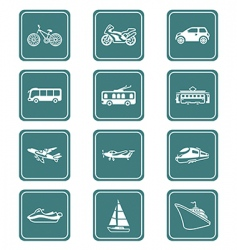 Transportation icons | teal series vector