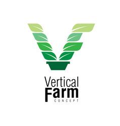 vertical farm concept symbol vector image