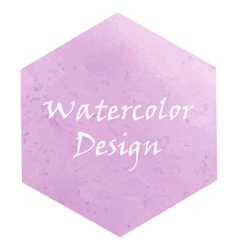 Watercolor hexagon vector image