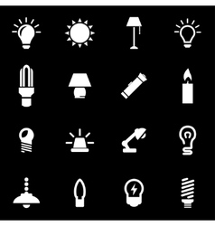 White light icon set vector