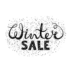 Winter sale text lettering seasonal shopping vector