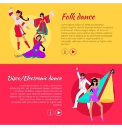 Folk and Disco or Electronic Dance Web Banner vector image