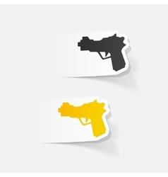 Realistic design element gun vector