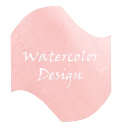 Watercolor peach color vector image vector image