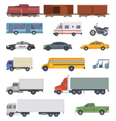 automobile trucks and vector image vector image
