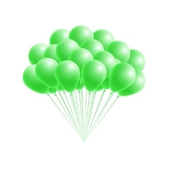 bunch birthday or party green balloons vector image vector image