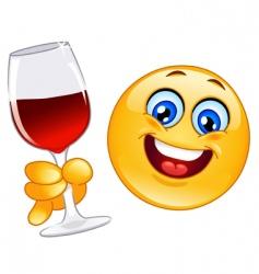 cheers emoticon vector image vector image