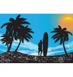 summer scape vector image
