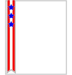 usa flag ribbon patriotic frame vector image vector image