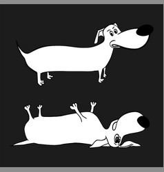 dog character image vector image vector image