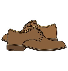 Leather low shoes vector image vector image