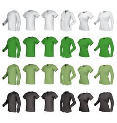 Polo shirts and t-shirts set vector