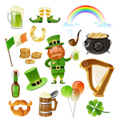saint patrick day elements set vector image