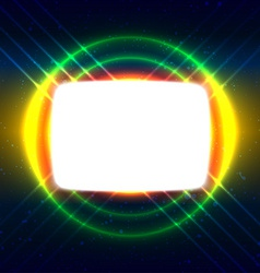 Shiny screen on the crossed wires vector image vector image