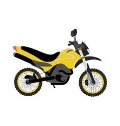 Sport bike silhouette transport power vector image vector image
