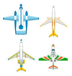 Airplane plane top view and vector