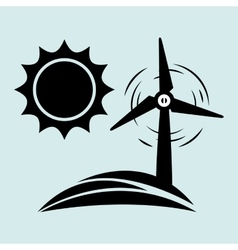 Alternative energy design vector image vector image