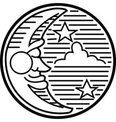 Moon night logo vector image