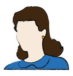 portrait woman female avatar image vector image vector image