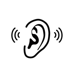 The human ear - vector image vector image