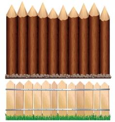 wooden fences vector image vector image