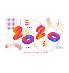 2020 colored memphis style modern design banner vector