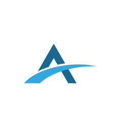 a letter bridge icon logo template vector image