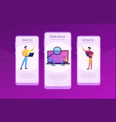 Academic laboratory app interface template vector
