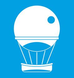 Aerostat balloon icon white vector