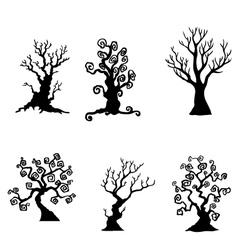 Artistic tree designs vector