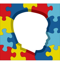 Autism Child Profile Puzzle vector
