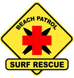 Beach patrol vector