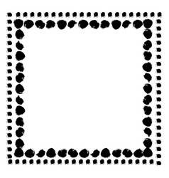 Black and white abstract frame vector