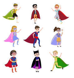 Boys is super heroes vector