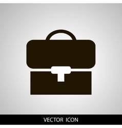 Briefcase icon Flat design vector image