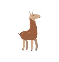Brown Llama Standing vector
