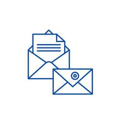 business correspondence line icon concept vector image
