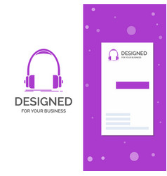 business logo for audio headphone headphones vector image